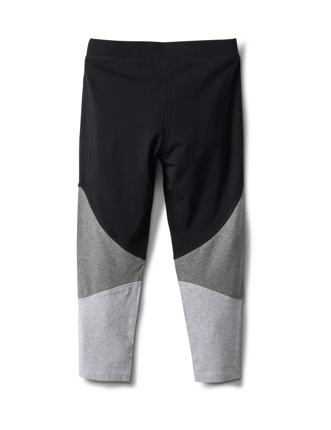Color Block Knit Capri - Grey/Black - Back