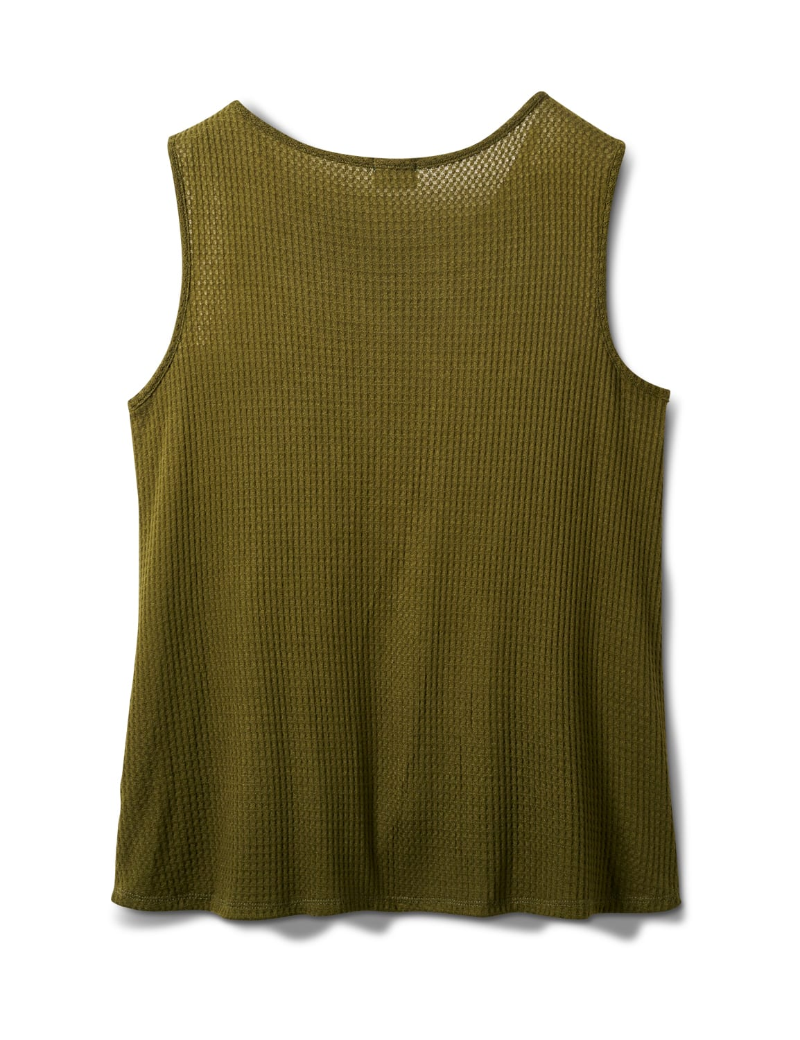 Mixed Camo Knot Front Knit Top - Plus - Olive - Back