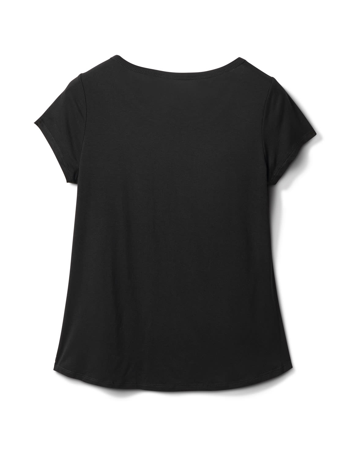 Dot Mix Media Knit Top - Black - Back