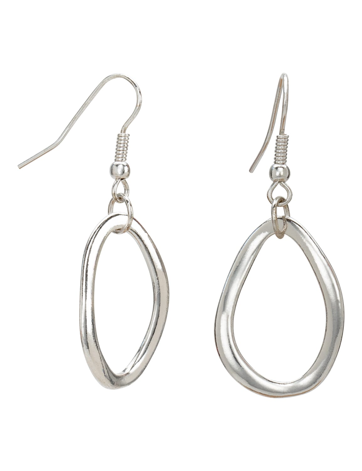 Simple Silver Trio Earring Set - Silver - Detail