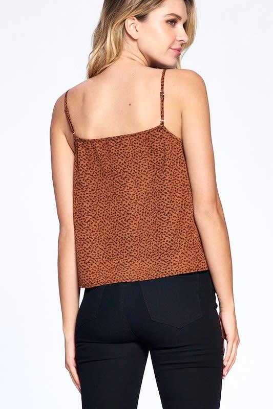 Natural Pattern Essential Tank - Brown - Back