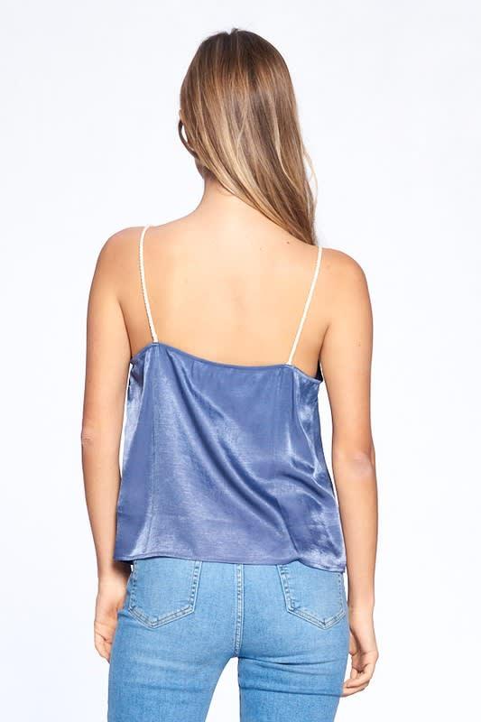 Silky Essential Tank - Dark Blue - Back