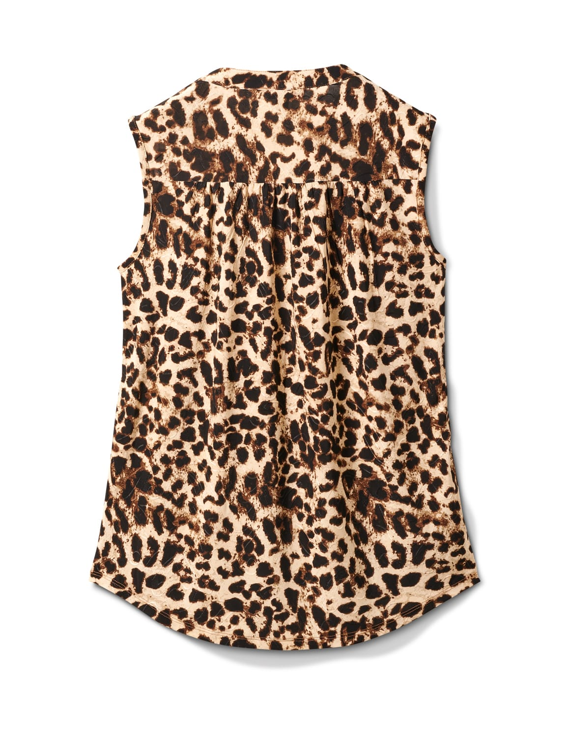Animal Sleeveless Knit Popover - Brown/Ivory - Back