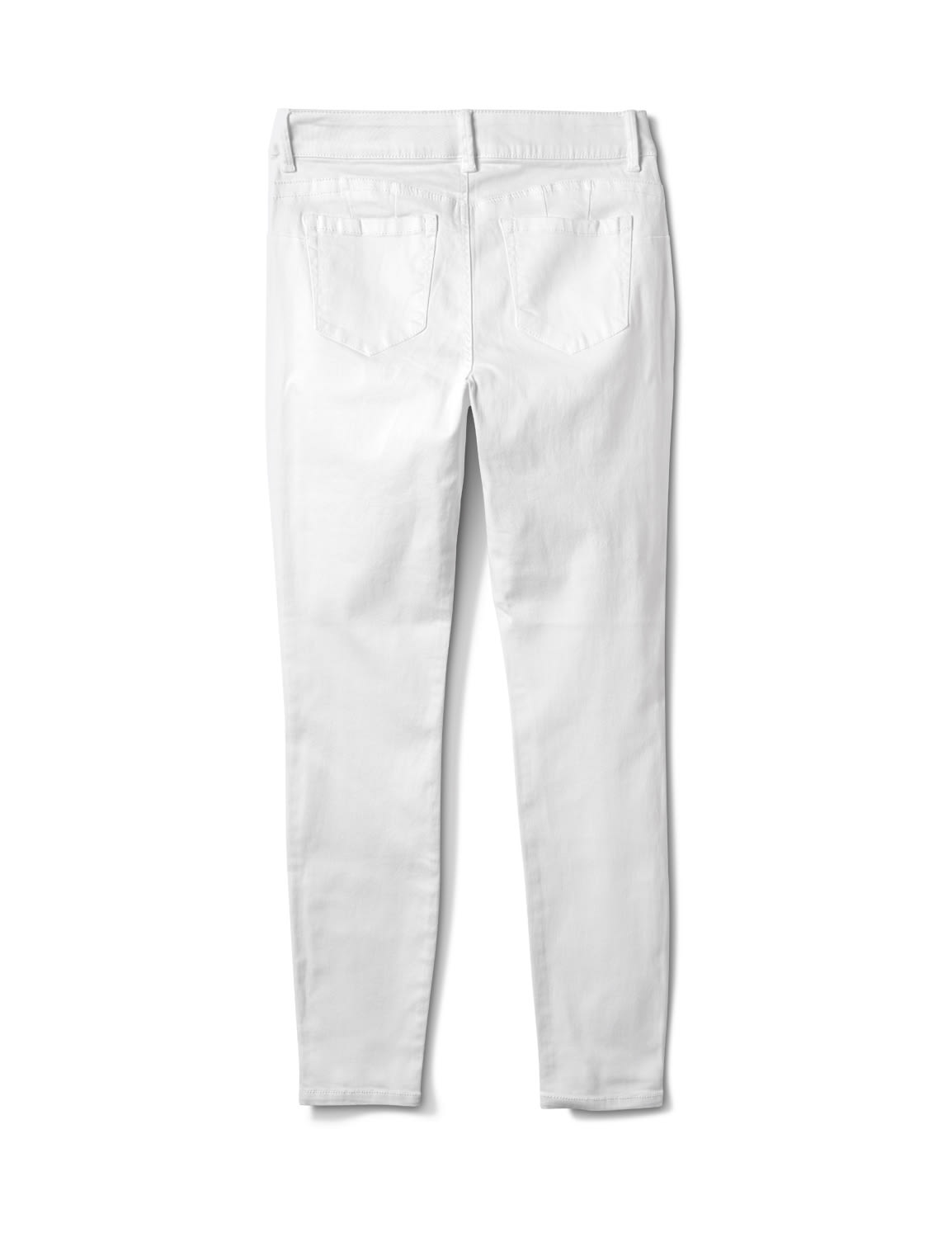Mid Rise 5 Pocket Goddess Fit Solution Jeans - White - Back
