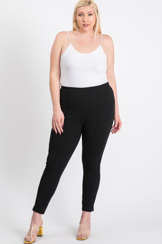 Everyday Skinny Pants - Black - Back