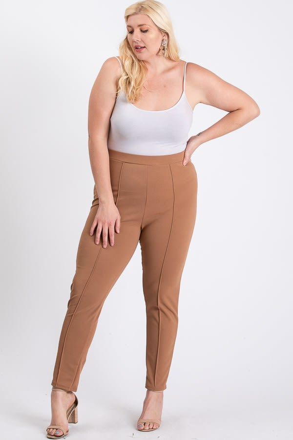 Everyday Skinny Pants - Camel - Front