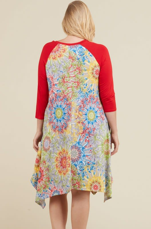 Vibrant Color Dress - Multi - Back