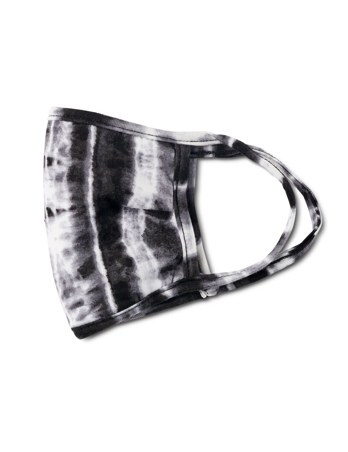 Tie Dye Fashion Mask - Black/White - Front