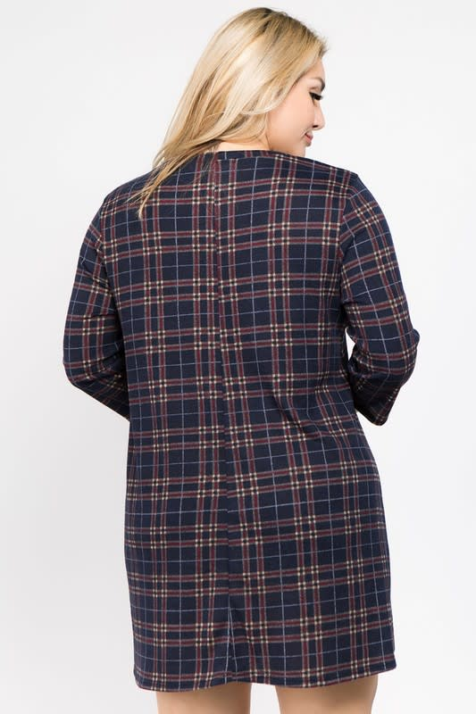 Old School Tunic Top - Navy - Back