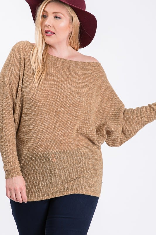 Lazy Day Knit Wide Top -  - Back