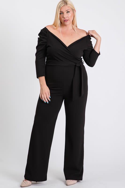 Give Your Dress A Break Jumpsuit - Black - Back