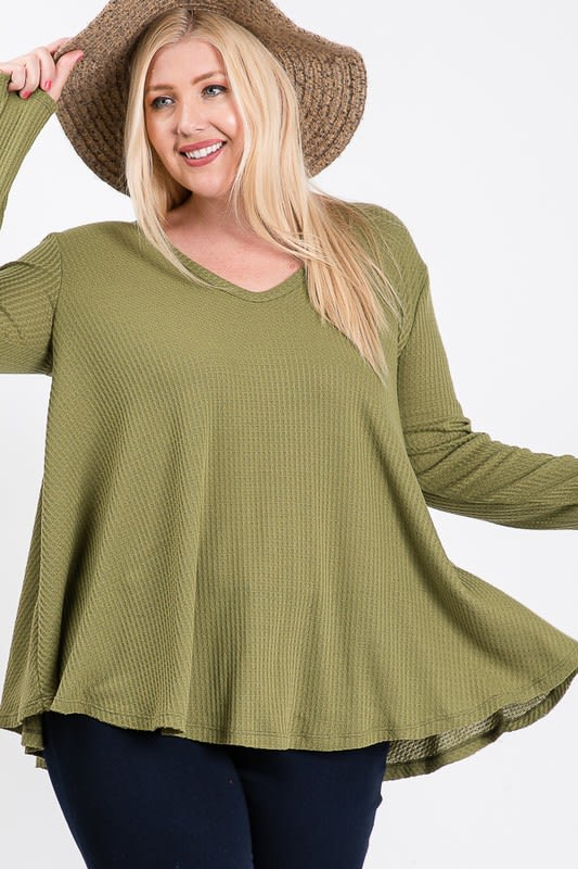 Nonchalant Light Top - Green - Front