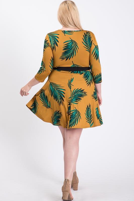Feel The Breeze Midi Dress -  - Back