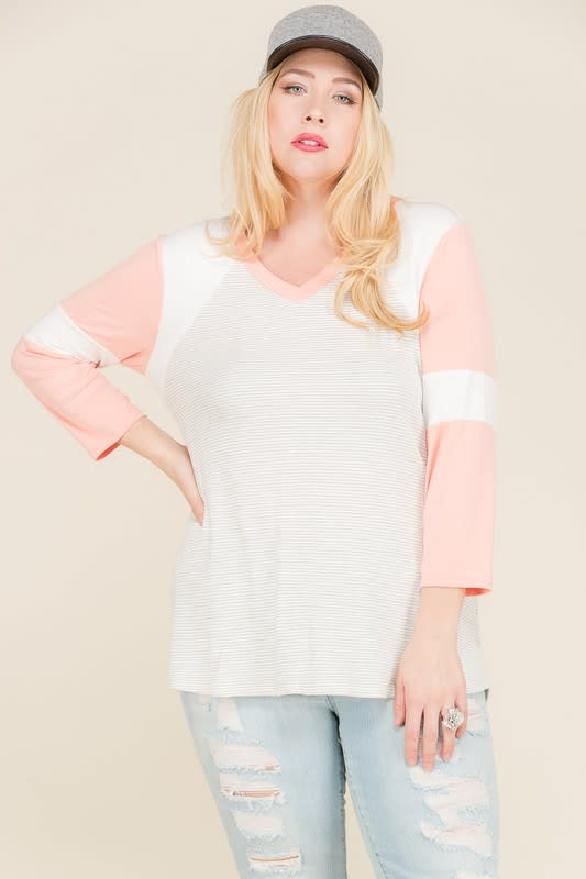 Get Moving Thermal Top - Coral - Front