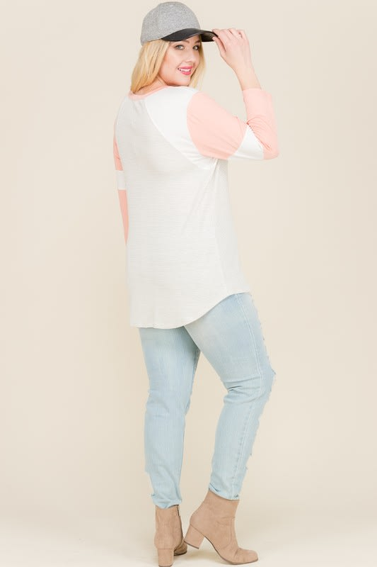 Get Moving Thermal Top - Coral - Back