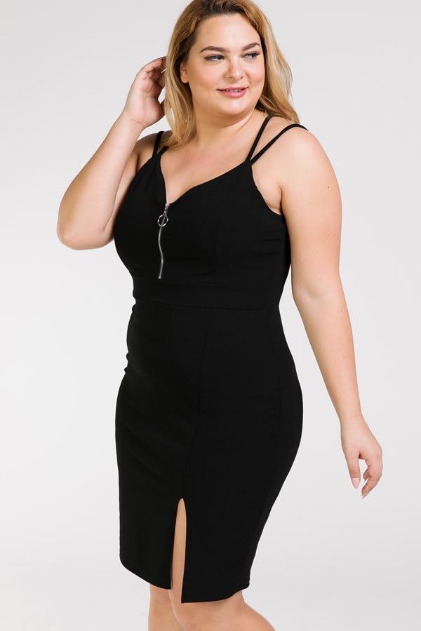 Woman in Dress - Black - Front