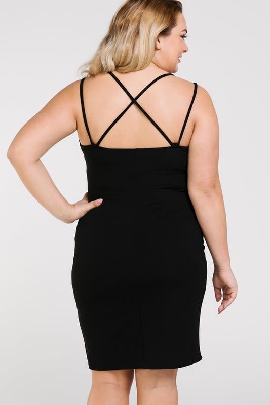 Woman in Dress - Black - Back