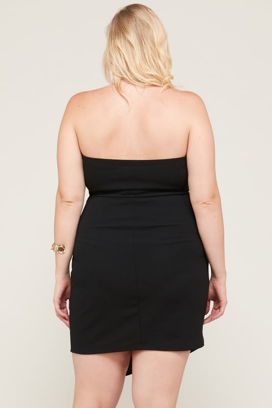 Grab Their Attention Dress - Black - Back