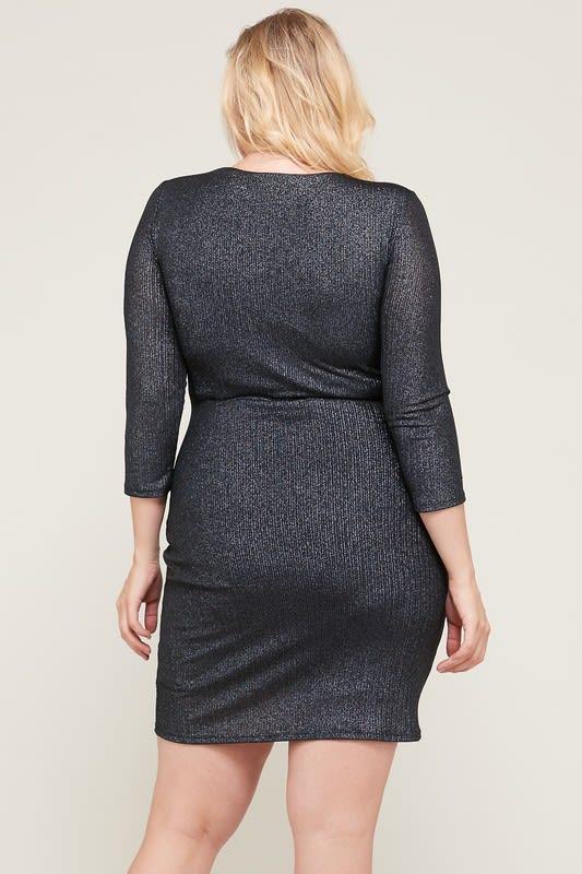 Worth the Wait Dress - Black - Back