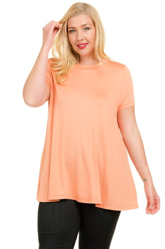 Good-To-Go Tee - Coral - Back