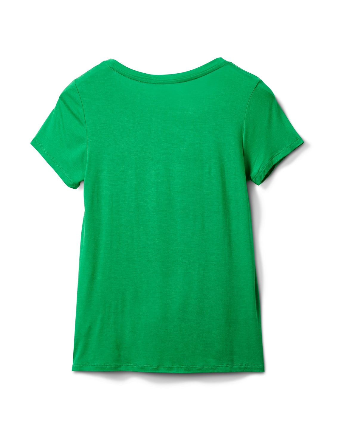 Rayon Span V-Neck Tee - Kelly Green - Back