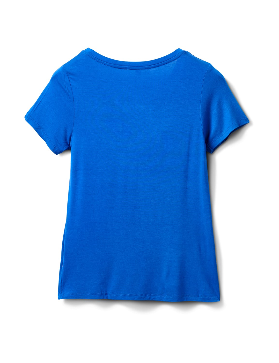 Rayon Span V-Neck Tee - Royal Blue - Back