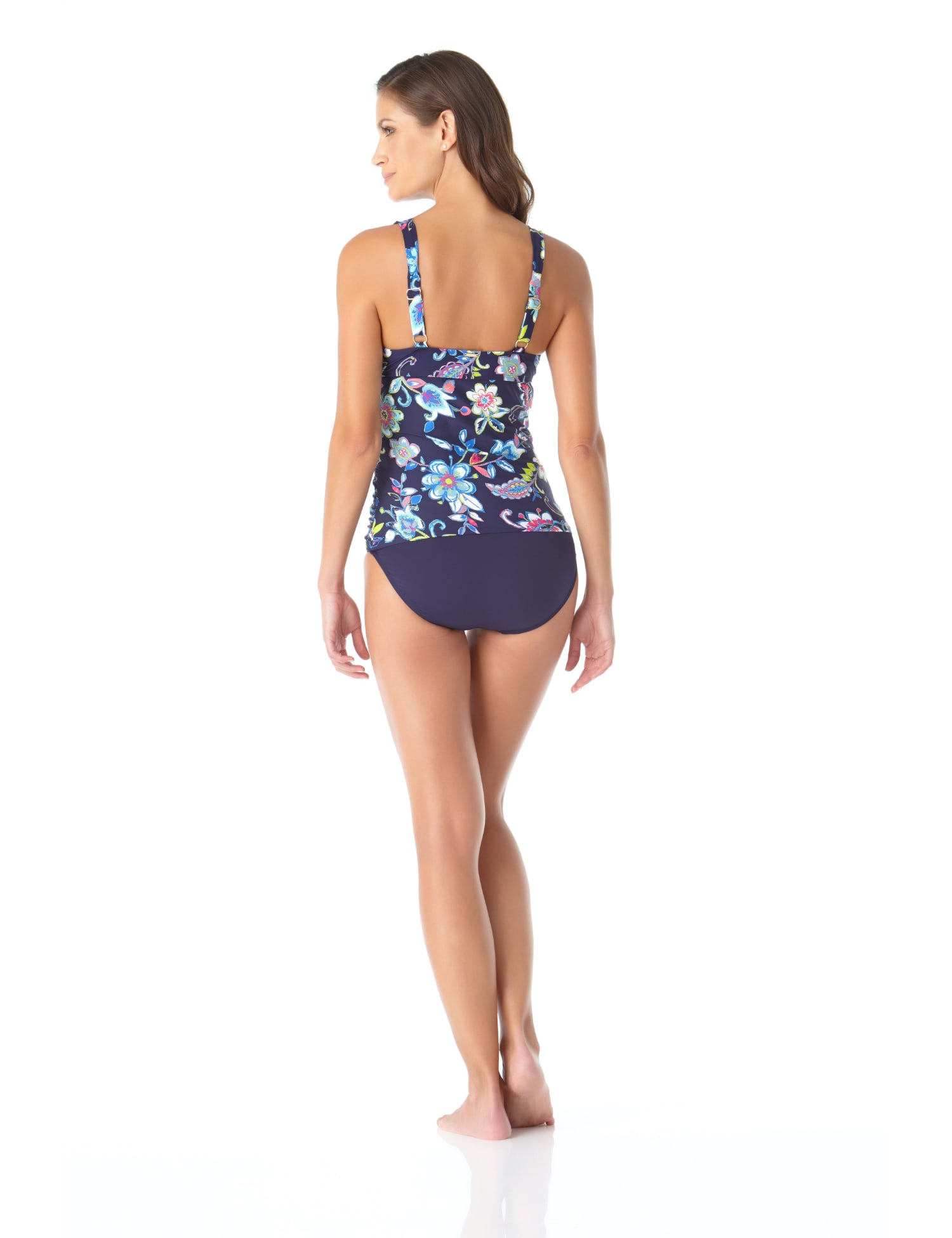 Anne Cole® Holiday Paisley Underwire Tankini Swimsuit Top - Multi - Back