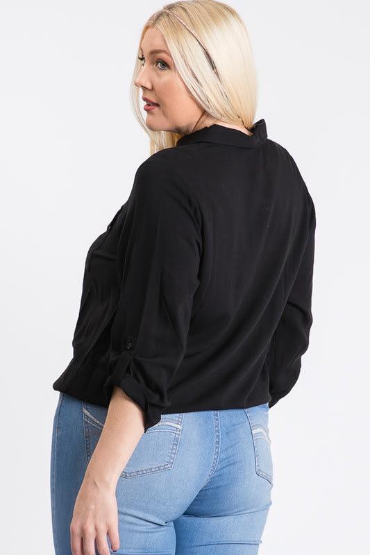 The Practical Pocket Shirt - Black - Back