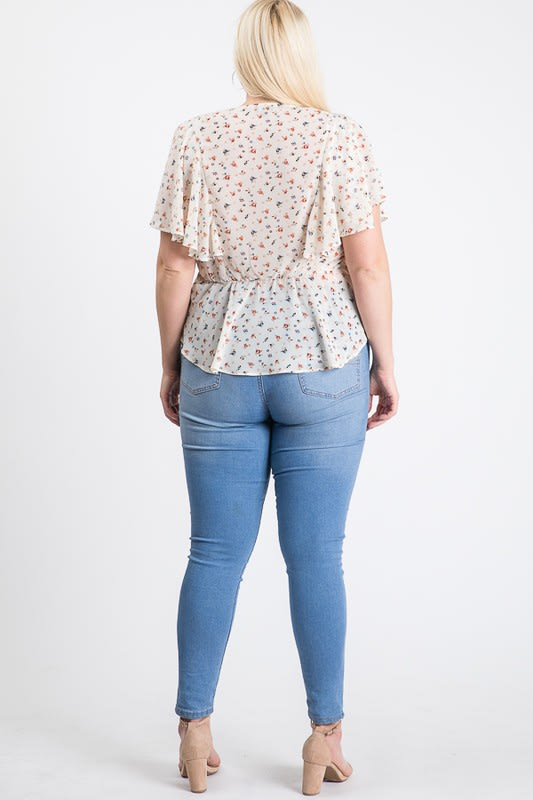 Have A Break Floral Top - Off White - Back