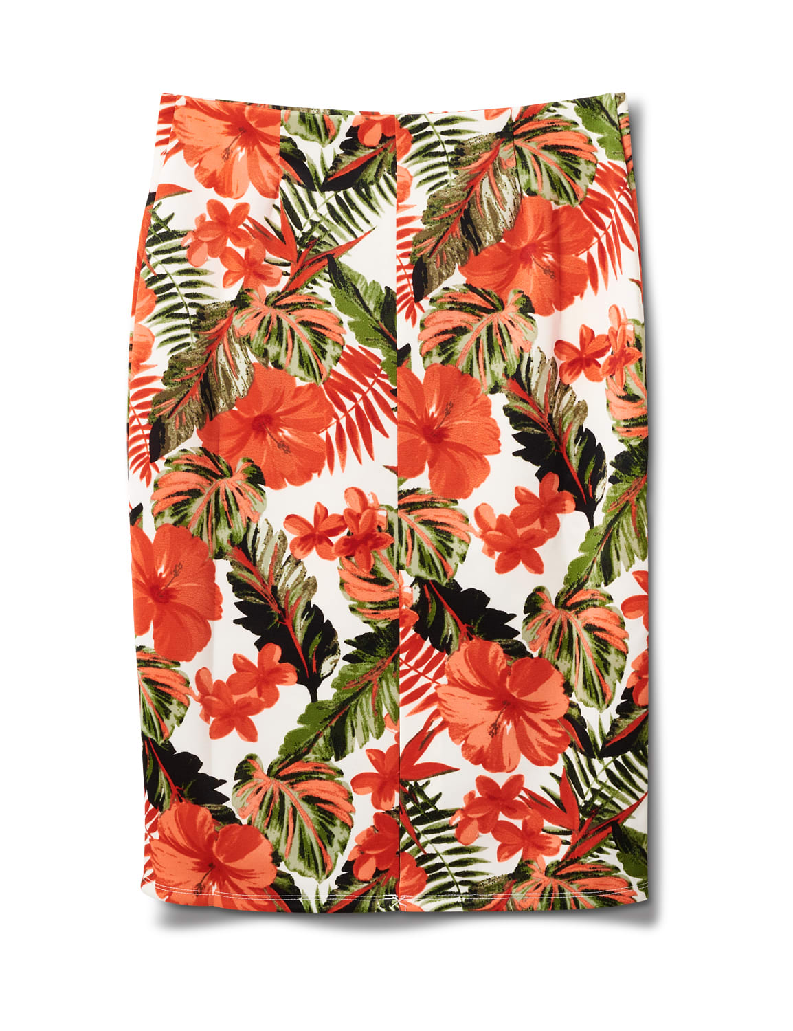 Printed Pull On  Floral Scuba Crepe Skirt - Sugar Swizzle/Spice isle - Back
