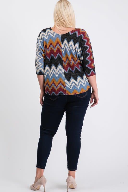 Multi-Colored Basic Shirt - Burgundy - Back
