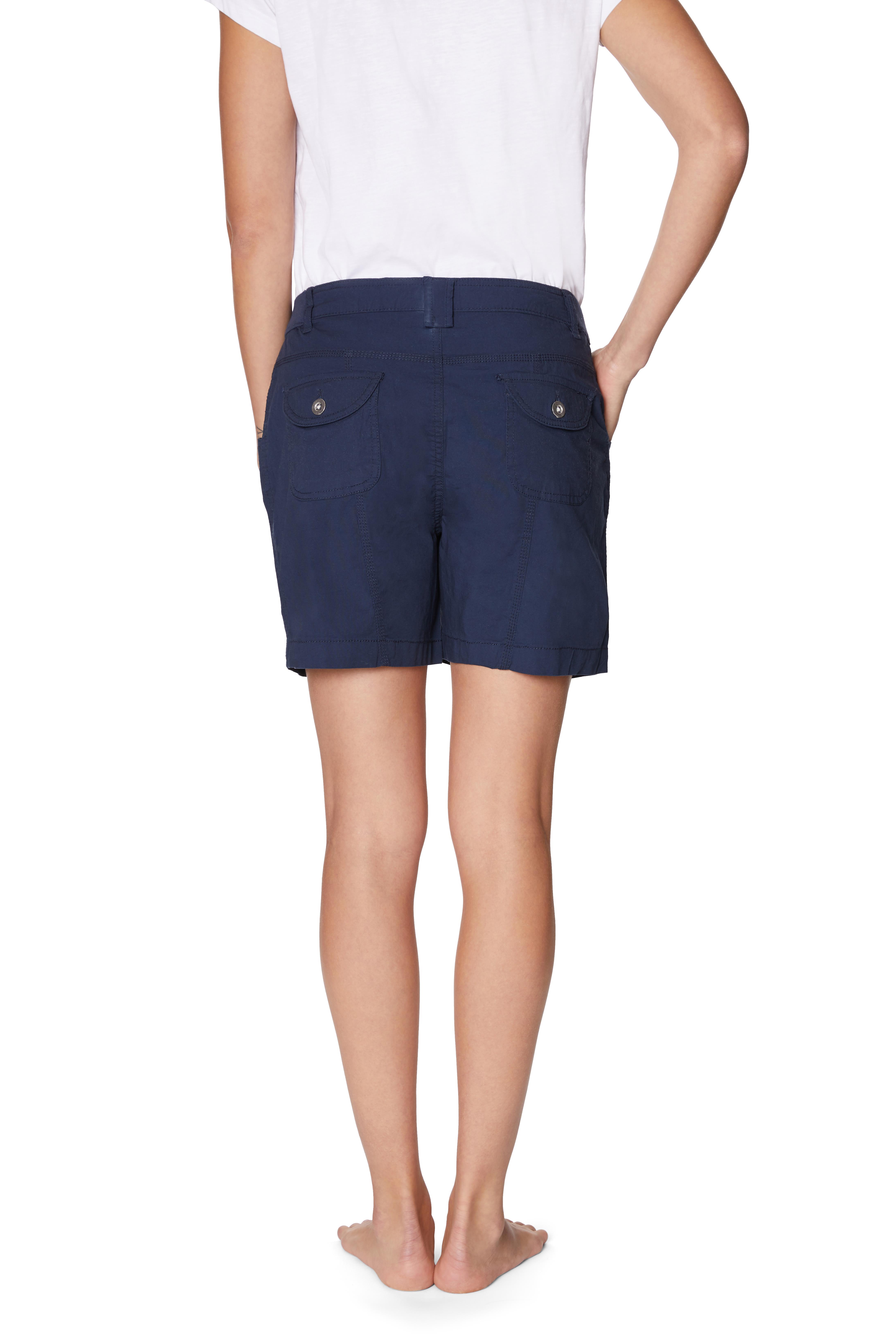 Caribbean Joe® Cotton Short - Navy - Back