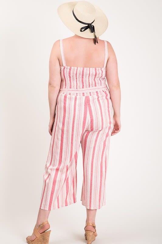 Step Into Summer Jumpsuit - Pink - Back