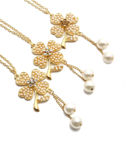 Flower Power Gold Chain Necklace - Gold - Back