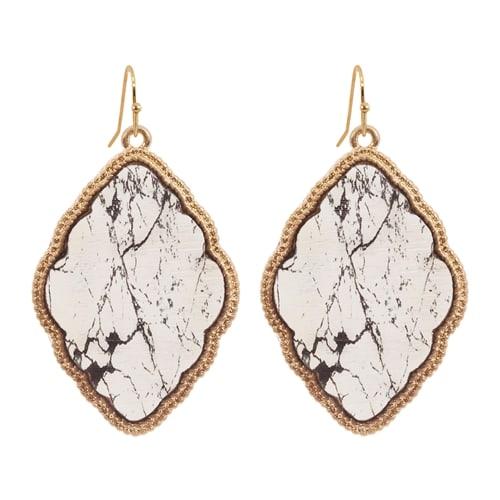Elegant quatrefoil Earrings - Gold  - Back