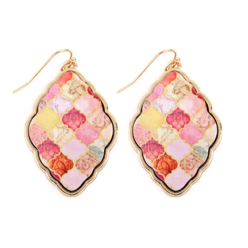 All You Need Baroque Earrings - Multi Color  - Front