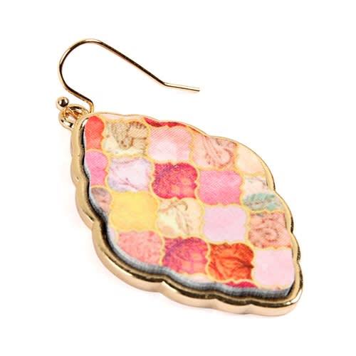 All You Need Baroque Earrings - Multi Color  - Back
