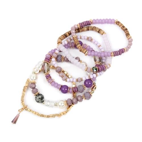 Purple Loving Stackable Bracelet - Purple - Back