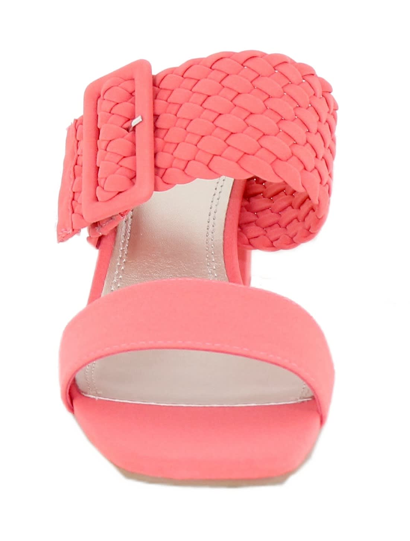 Impo Vlossom Block Heel Sandals - Hot Coral - Back