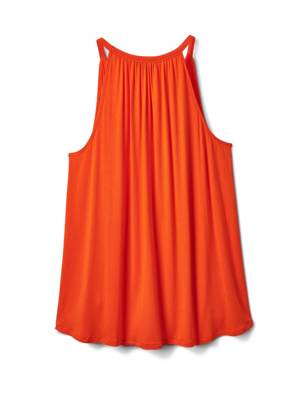 Twist Detail Cut Out Knit Top - Burnt Orange - Back