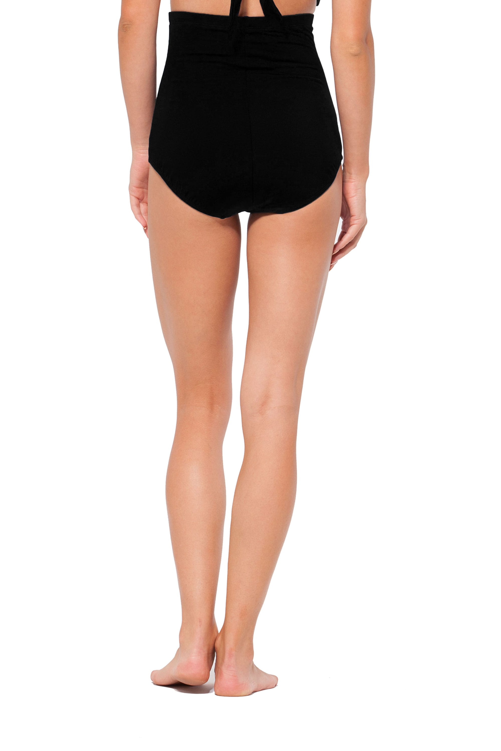 Anne Cole® Live in Color Tummy Control Swimsuit Bottom - Black - Back