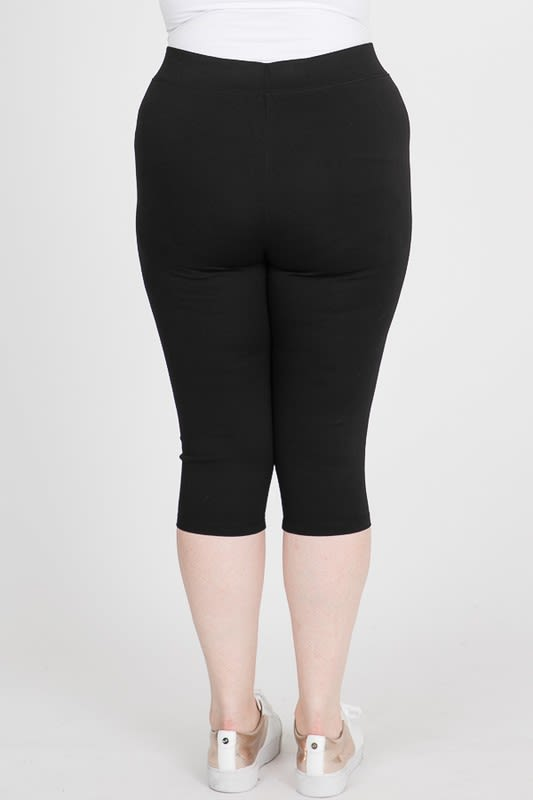 Everyday Ponte Capri Pants - Black - Back