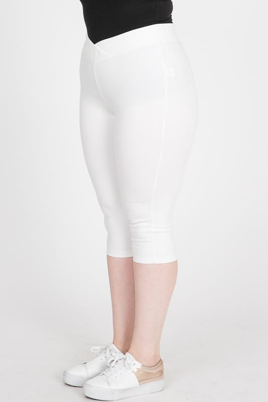 Everyday Ponte Capri Pants - White - Detail