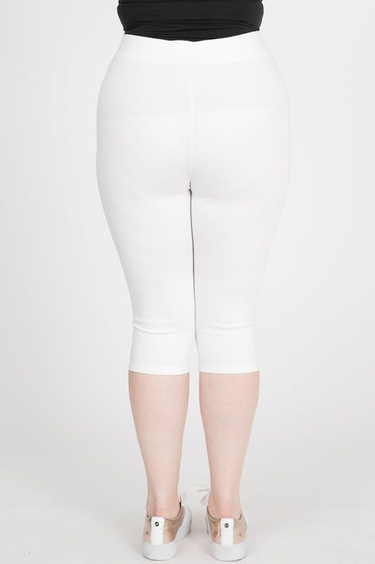 Everyday Ponte Capri Pants - White - Back