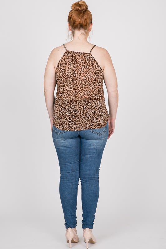 Savage Overwrap Tiger Top - Brown - Back