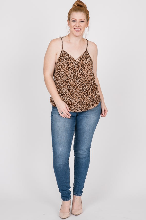 Savage Overwrap Tiger Top - Brown - Front