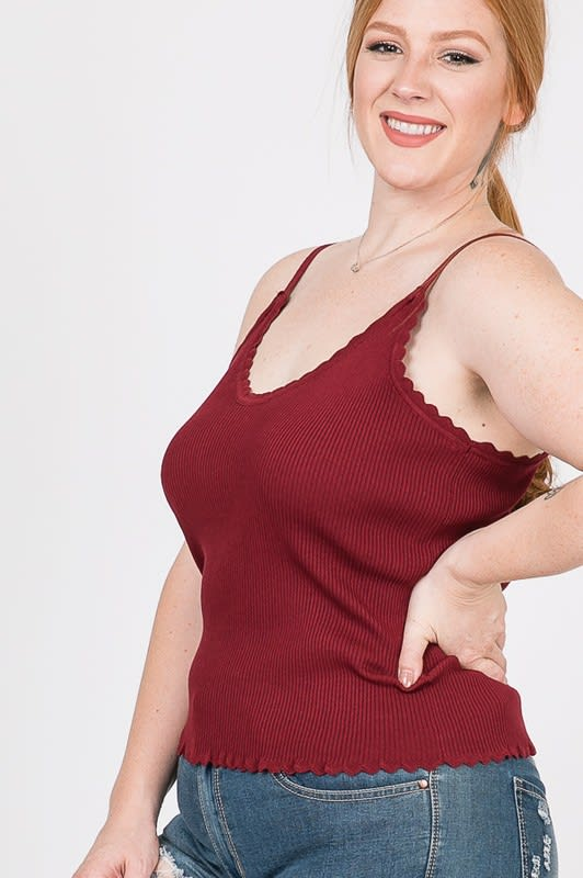 Every Mood Tank Top - Burgundy - Front