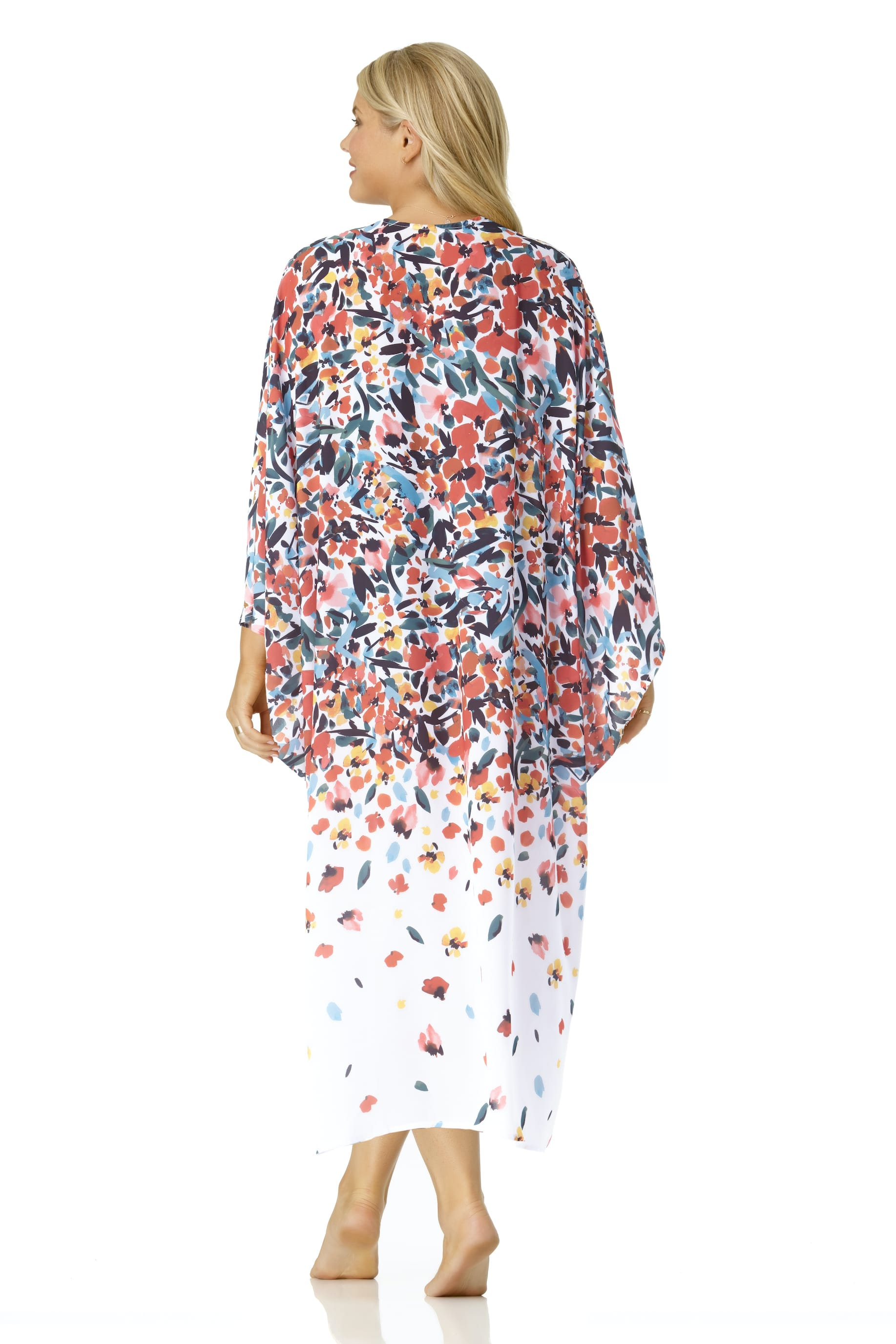 Anne Cole® Sunset Floral Maxi Swimsuit Cover-Up - Multi - Back