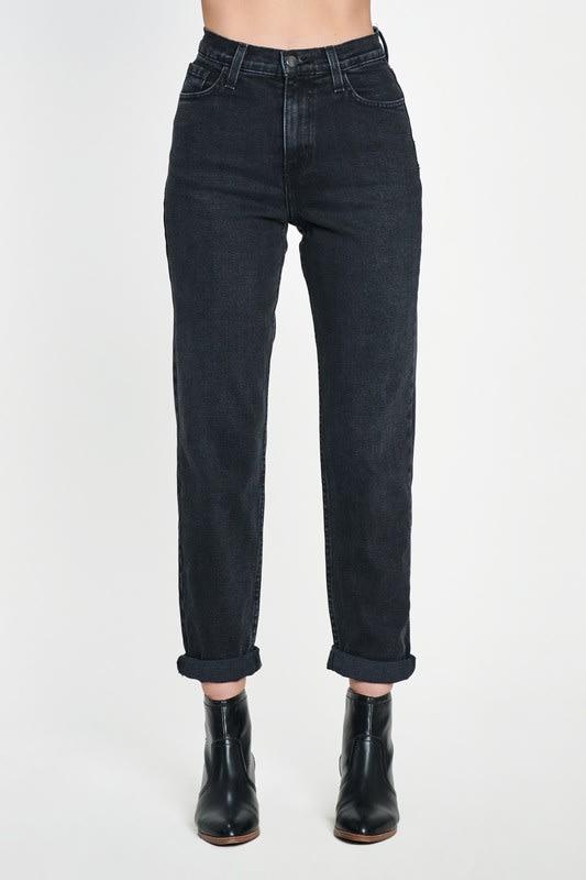 Classic Mom Jeans - Vintage black  - Detail