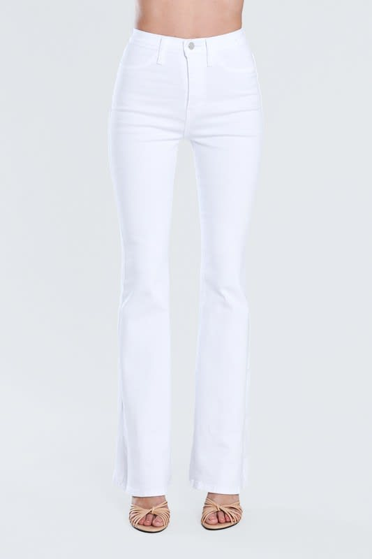 White Classic Flare Jeans - White - Detail